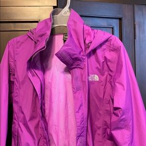 The North Face women's zip up nylon windbreaker